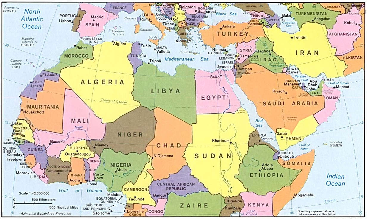 Cartina Europa E Africa.Certificati Di Conformita Coc Medio Oriente E Africa